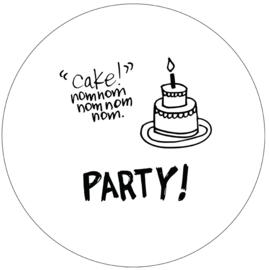 Label-R muurcirkel cake 30 - zwart