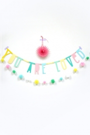 A Little Lovely Company letterbanner - pastel