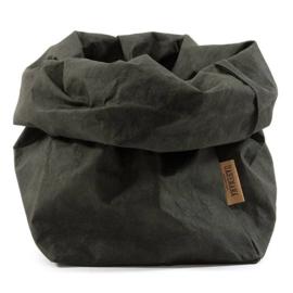Uashmama paper bag - donkergroen
