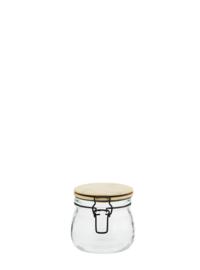 Madam Stoltz voorraadpot xs glas met bamboe deksel