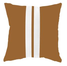 Label-R buitenkussen strepen - bruin