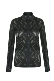 G-maxx blouse kant - zwart