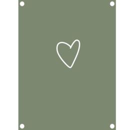 Label-R tuinposter hart - olijfgroen