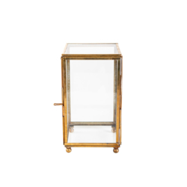 Glazen box - messing