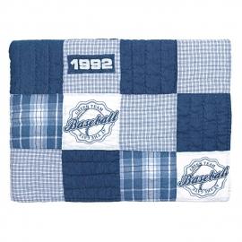 Greengate quilt - baseball blue
