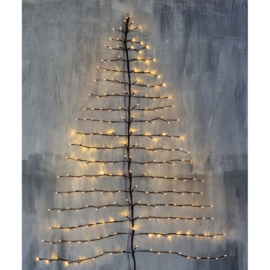 Kerstboom wand met verlichting