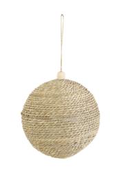 Kerstbal touw m - naturel