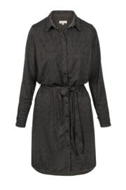 Zusss blouse jurk print - grafietgrijs