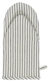 Ib Laursen ovenwand stripe - naturel/zwart