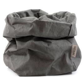 Uashmama paper bag - donkergrijs