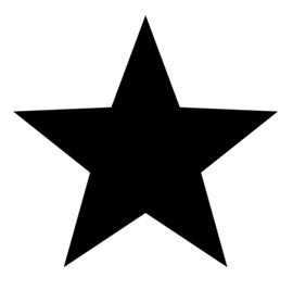 Label-R muur ster  - zwart