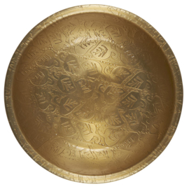Schaaltje metaal - antiek brass