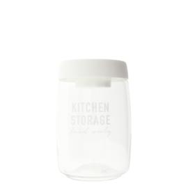Bastion Collections voorraadpot glas l kitchen storage - wit