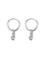 Zusss oorbellen hangertje - zilver