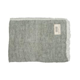 MrsBloom plaid 130x170 - Olijf grijs