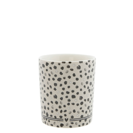 Bastion Collections beker dots - titaan