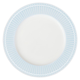 Greengate plate  - alice pale blue