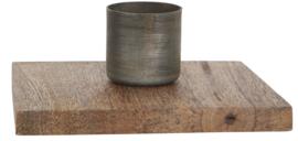 Kaarsenstandaard hout - zink