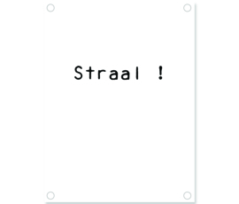 Label-R tuinposter straal - wit
