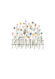 Klein Liefs wenskaart bloemen