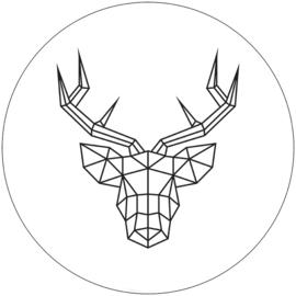 Label-R muurcircel rendier 30 - wit