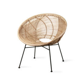 HKliving stoel lounge - naturel