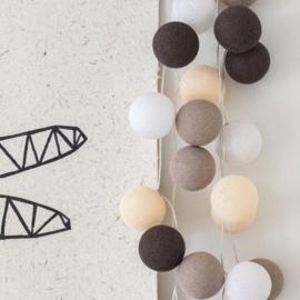 Cotton ball lights - taupe