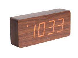Karlsson tube alarm klok - bruin