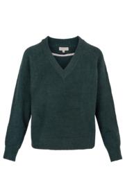 Zusss trui met v-hals - groen