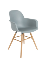 Zuiver stoel met armleuning - lichtgrijs