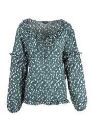 G-maxx blouse - donkergroen