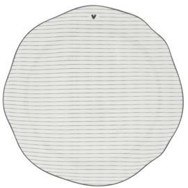 Bastion Collections dinerbord stripes nw - zwart