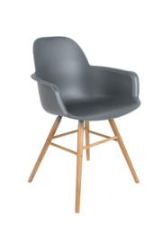 Zuiver stoel met armleuning - donkergrijs