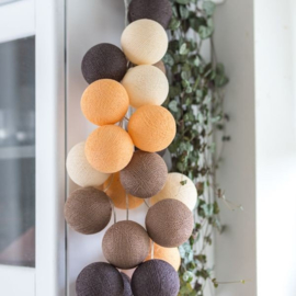 Cotton Ball Light - clay