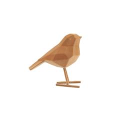 Present Time vogel fluweel s - bruin