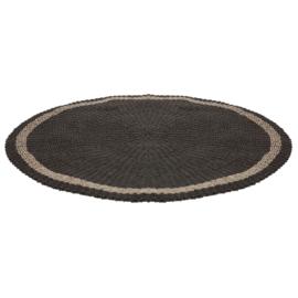 Vloerkleed zeegras 150cm - zwart