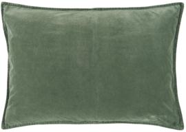 Ib Laursen kussenhoes velvet 70x50 - dusty green