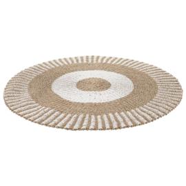 Vloerkleed zeegras 150cm - wit
