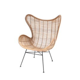 HKliving stoel eggchair - naturel