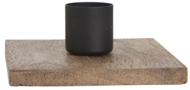 Kaarsenstandaard hout - zwart