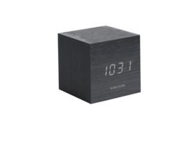 Karlsson cube alarm klok - zwart