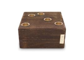 vtwonen kandelaar hout 15x15 cm