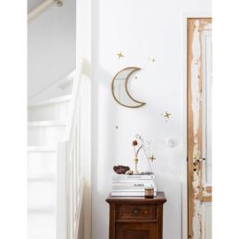 vtwonen spiegel maan  - goud