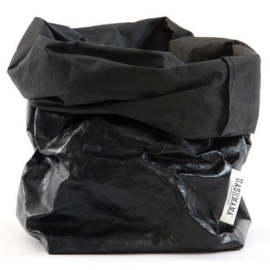 Uashmama paper bag - metalic zwart