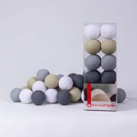 Cotton ball lights - grijs/zand