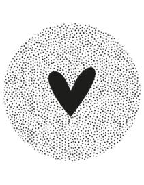 Zoedt muurcirkel dots - zwart