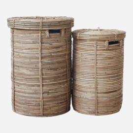 House Doctor mand bamboe met deksel