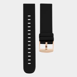 OOZOO smartwatch losse band - zwart/roségoud
