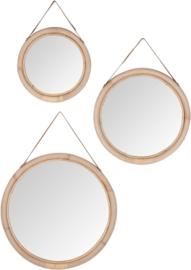 Spiegel rond bamboe