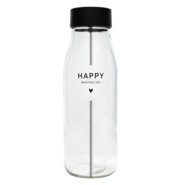 Bastion Collections fles happy nw - zwart